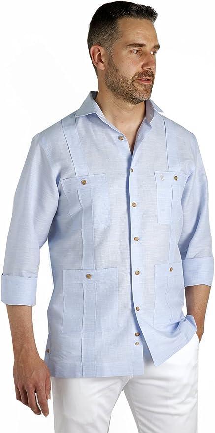 Enrique Pellejero Camisa Guayabera (XL): Amazon.es: Ropa y accesorios