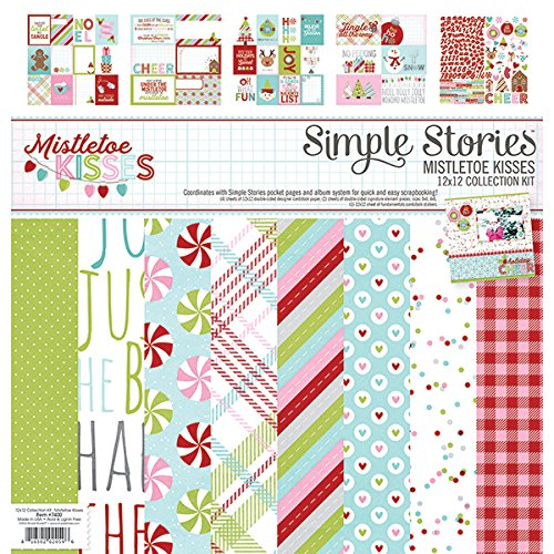 Simple Stories 7400 Mistletoe Kisses Collection Kit by Simple