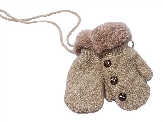 La Vogue Gants Enfant Hiver Tricot 1-5 Ans Moufle Hiver Chaude 13   6cm 3834f5c67ce