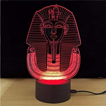 De H9id2e Couleurs Led Lifme Lampe 7 Visual Table 3d Égyptien Sphinx xrdBCoe
