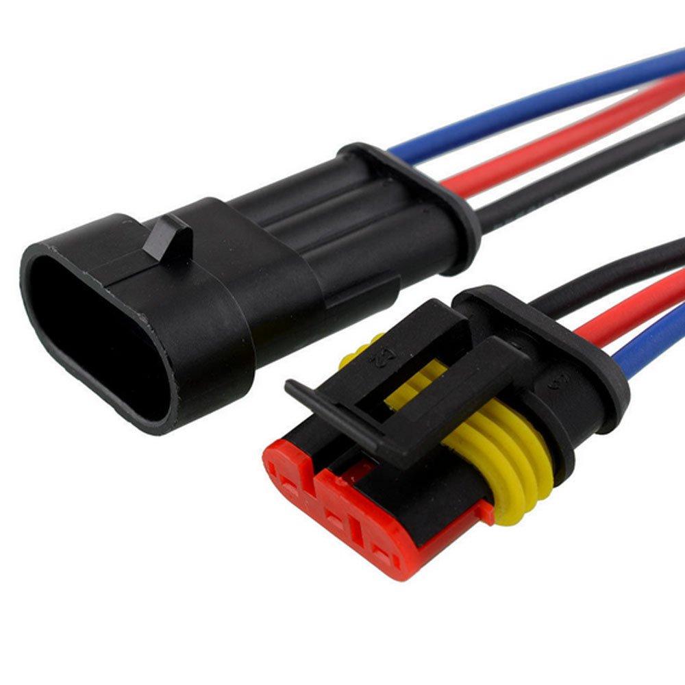 Mintice™ 10 X 2-Polig Kabel Steckverbinder Stecker Wasserdicht ...