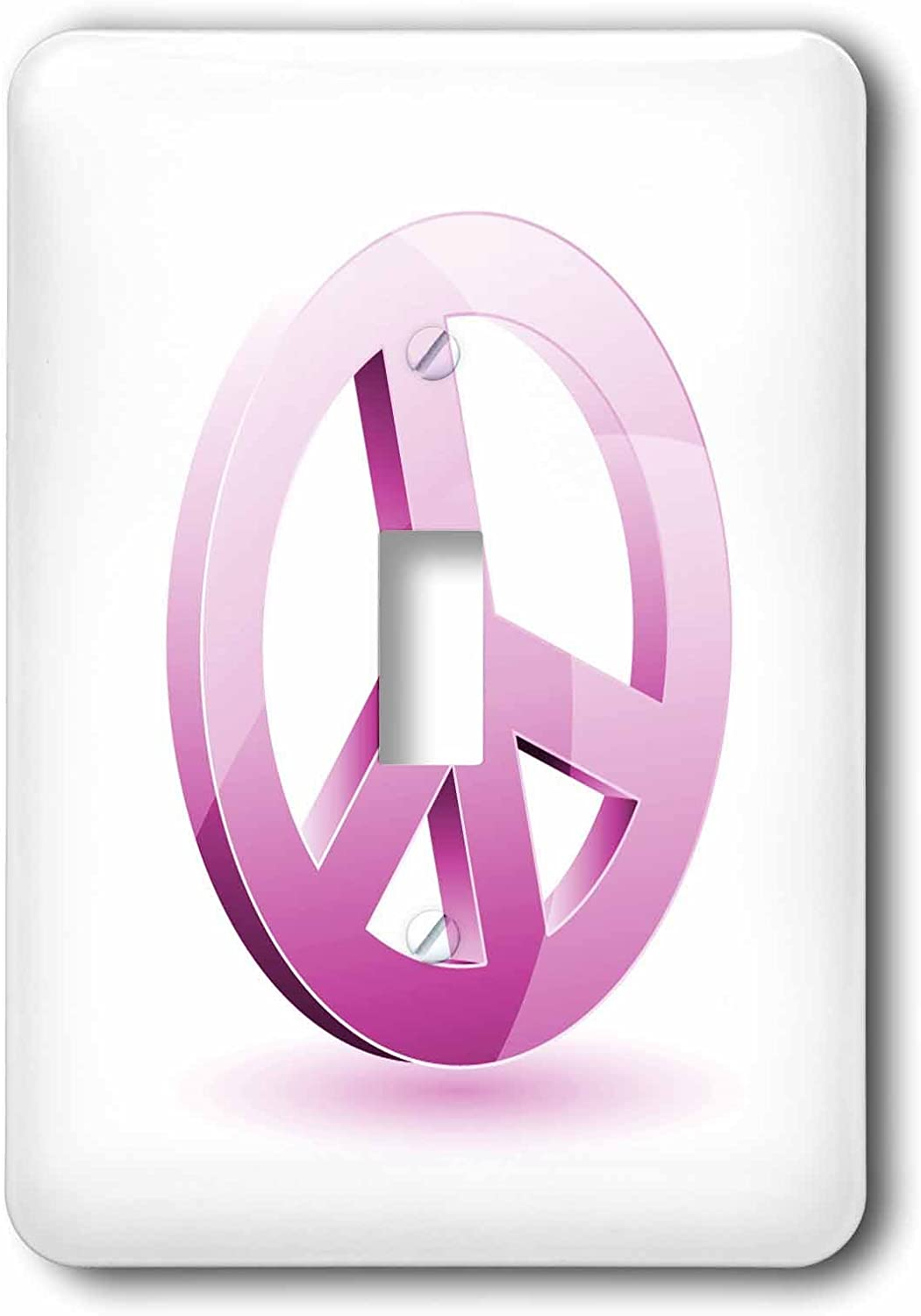 3drose Llc Lsp 101287 1 Pink Peace Sign Single Toggle Switch Switch Plates Amazon Com