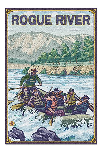 Rogue River, Oregon - White Water Rafting (20x30 Premium 1000 Piece Jigsaw Puzzle, Made in - Tours Whitewater Rafting