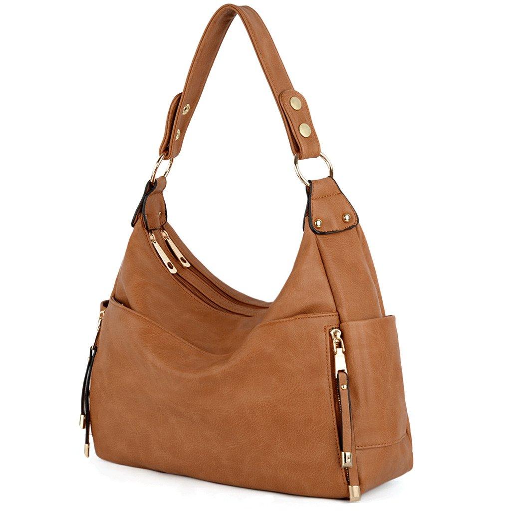 UTO Women Handbag PU Leather Front Zipper Purse Hobo Style Shoulder Bag 18000203-2ca