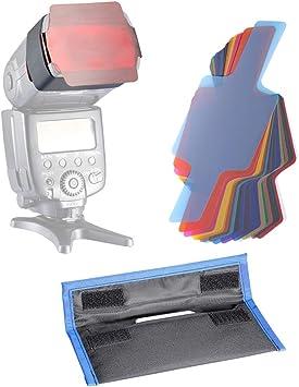 Neewer Photographic 2.5x5.5 inches 20-piece Speedlite Flash Color Gel Lighting Filter Kit Fits Canon Nikon Nissin Olympus Panasonic Pentax Konica Metz Minolta Neewer Flash and Other Flash Speedlight