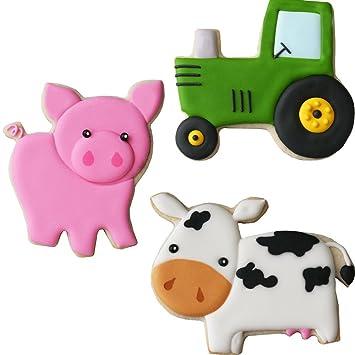 Sweet Elite Schablone Farm Edelstahl Cookie Cutter Set Pig Traktor