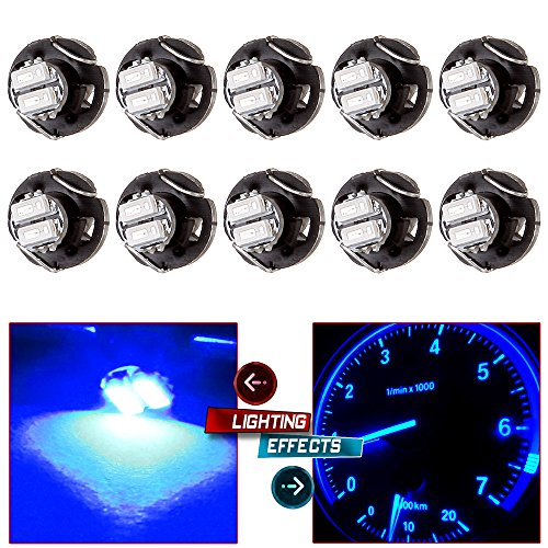 Price comparison product image cciyu 10 Pack Blue T3 2-3014 SMD Neo Wedge 35852-SEP-A02 A / C Climate Control LED Light Bulbs (blue)