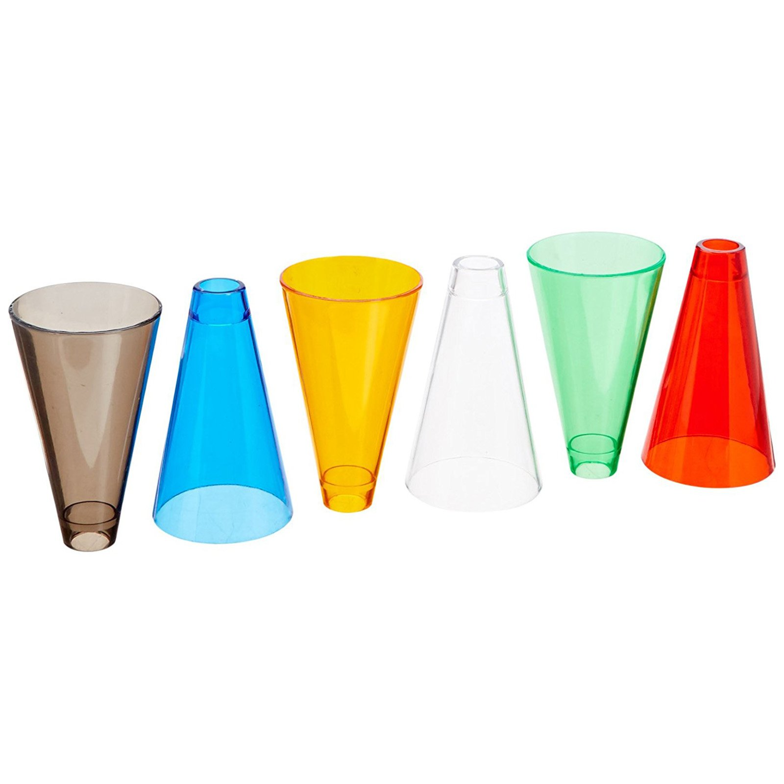 Rolyan Stacking Cones and Plastic Base, Set of 30 Activity Cones with Acrylic Colors and Base for Exercises for Occupational Therapy, Physical Therapy, Perception, and Coordination