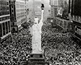 Crowds cheering as President Truman announces Japan's surrender at the end of World War Two Sports Photo (10 x 8)