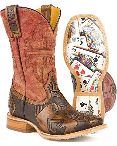 Scarpe Da Barattolo Di Latta Mens The Gambler Western Boot Brown
