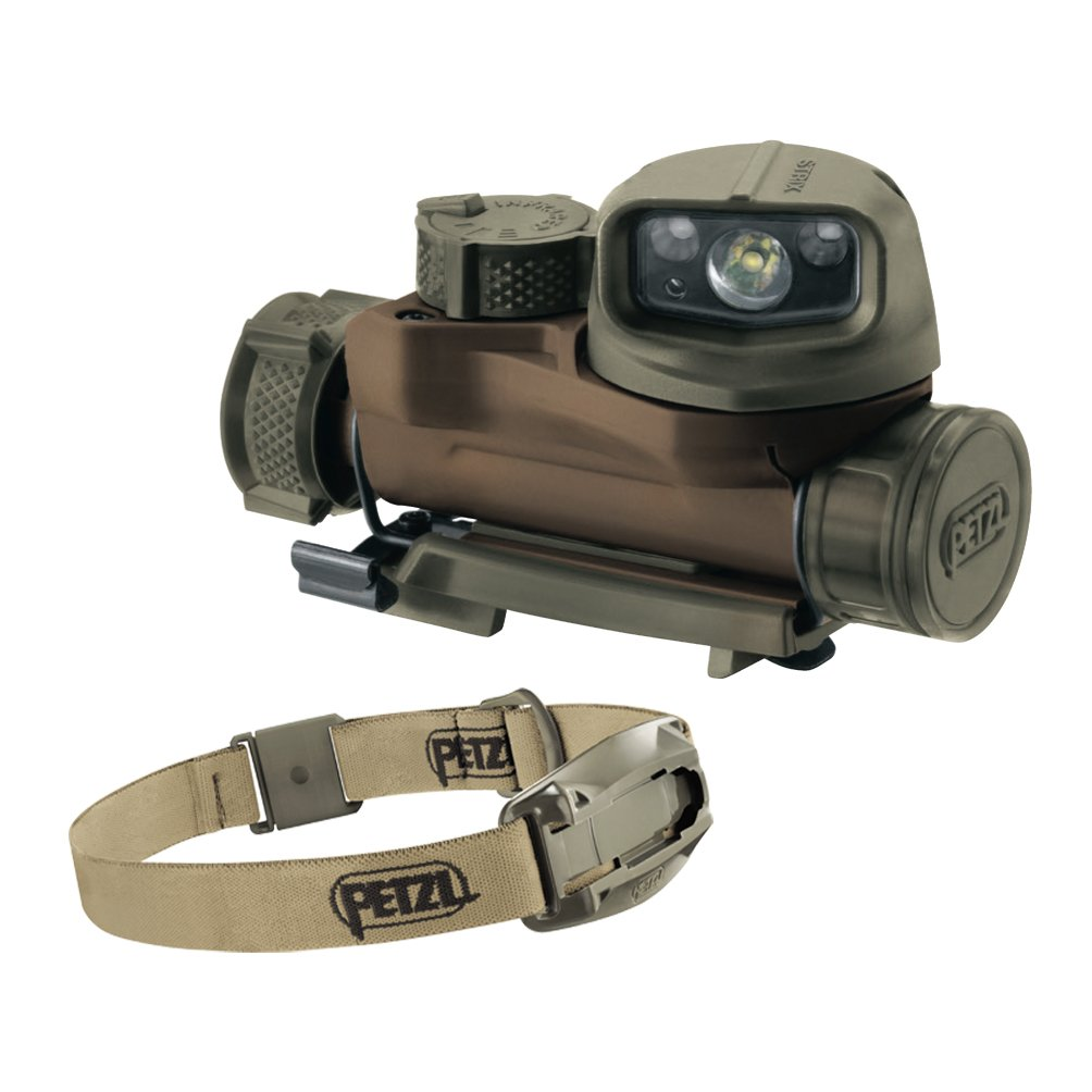 Petzl STRIX IR tactical headlamp Desert