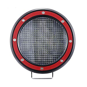 Z-OFFROAD 5'' Round LED Driving Light 51W 5100lm Red Flood Fog Lamp Off Road Pod Lights LED Work Light Bar for Car Trucks Tractor SUV ATV Jeep