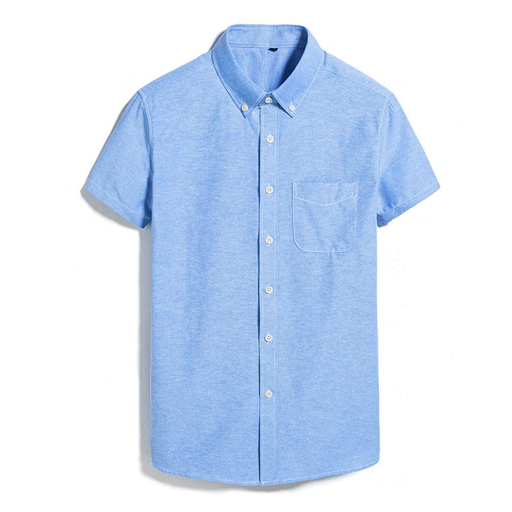 AoMoon Mens Air Stripe Short Sleeve Button Down Shirt