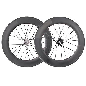IMUST 700C Aero Carbono Carretera Bici Ruedas 88mm Clincher Novatec Hub Shimano 10/11 velocidad: Amazon.es: Deportes y aire libre