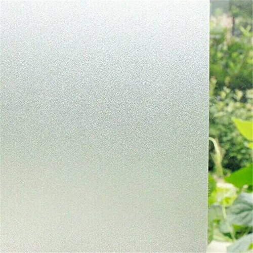 35.6by78.7 Inch Window Film Frosted Window Film Privacy Window Film Decorative Window Film Static Cling Window Film Suitable for All Kinds of Smooth Glass - Glass Left Tint