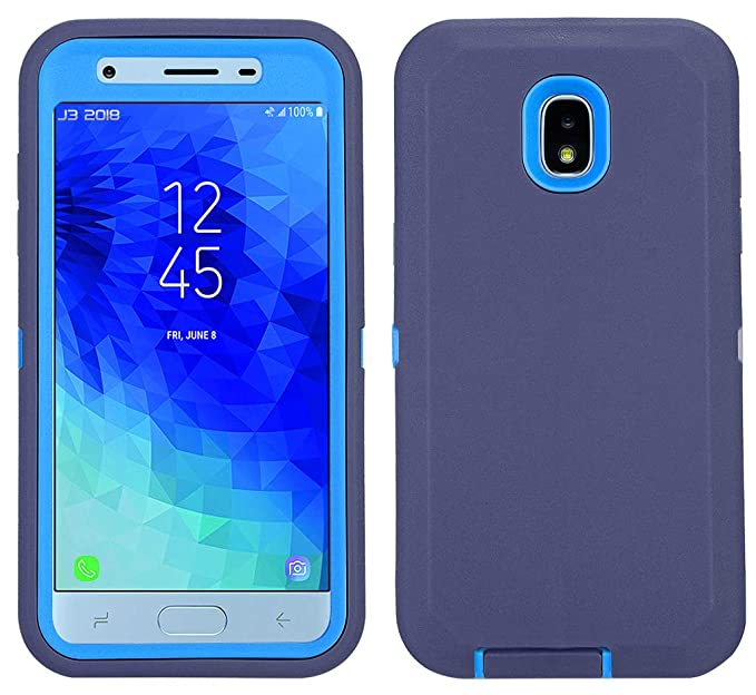 sports shoes ae736 e452f Samsung Galaxy J7 2018 Case, Heavy Duty Shockproof Defender Armor  Protective Cover with Built-in Screen Protector for Samsung J7 2018/ Galaxy  J7 Aero/ ...