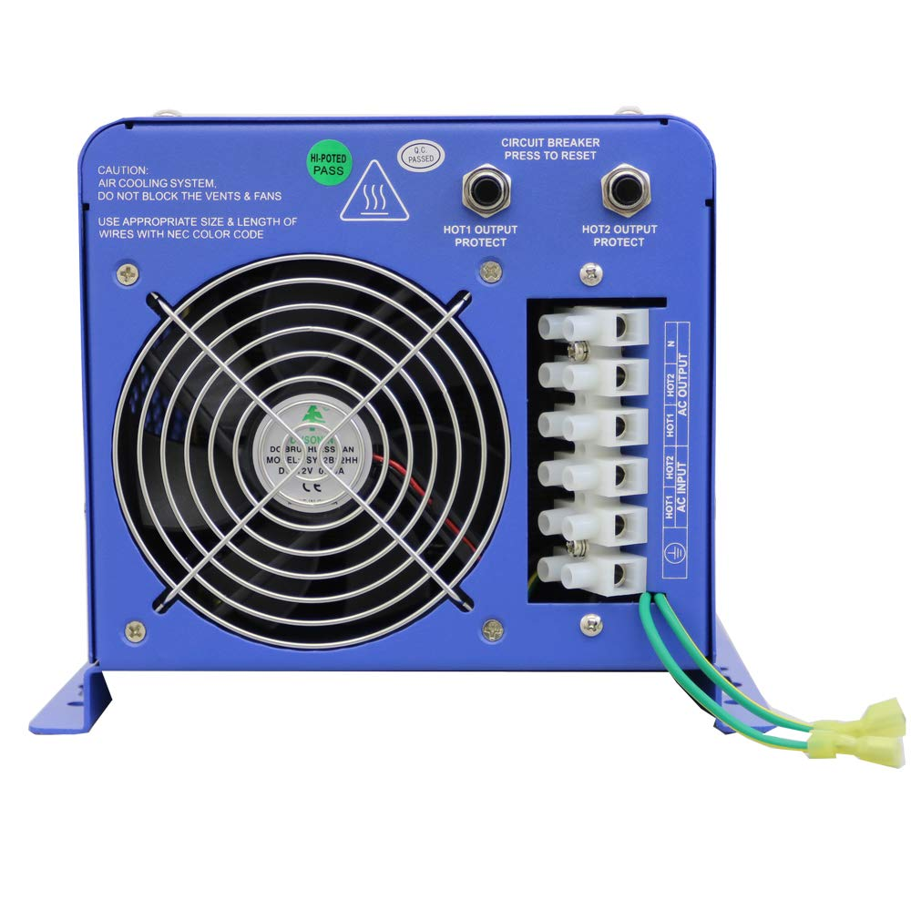 Aims Power Picoglf60w24v240vs 24 Volt Pure Sine Inverter Parts Required For The Simple Battery Backup Circuit Charger 6000 Watt Low Frequency 110 220vac Split Phase 18000 Surge