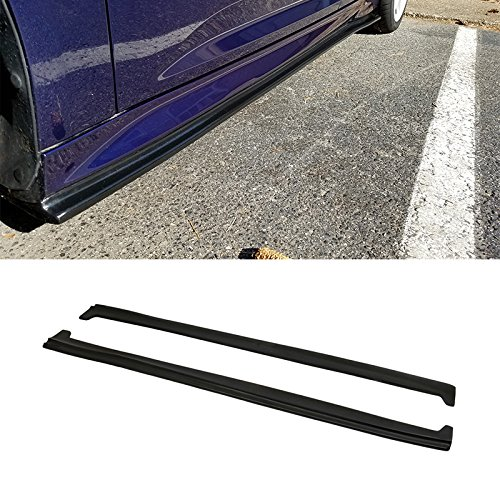 Side Skirts Fits 2013-2016 Ford Focus ST & 2016-2017 Ford Focus RS | Buddy Club Style Black PU Sideskirts Rocker Moulding Trim Bottom Line by IKON MOTORSPORTS | 2014 2015