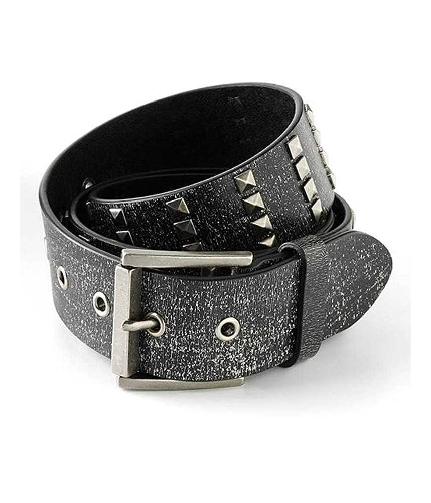 Ecko Unltd. Mens Studded Cracked Leather Belt 012163010