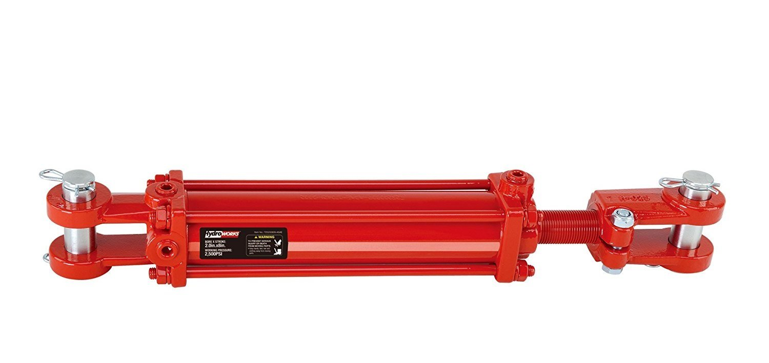 HYDROWORKS Double Acting Tie Rod Hydraulic Cylinder, 2500 PSI (3.5'' Bore/ 8'' Stroke - ASAE)