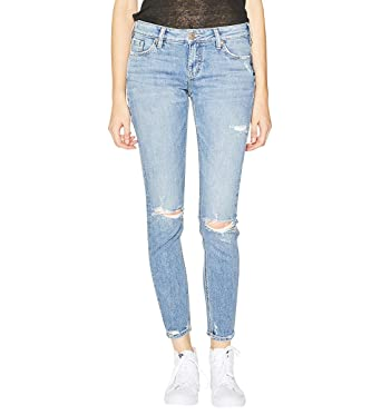 e66c2953dbc Silver Jeans Co. Women's Elyse Relaxed Fit Mid Rise Skinny Jeans, Light  Vintage Destructed