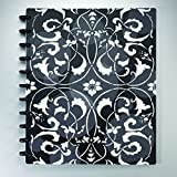 Staples Arc Customizable Flower Circle Design Notebook System, Black & White, 9-3/8