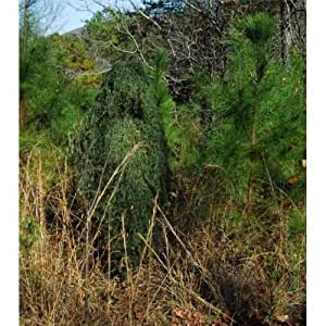 """Paintball """"Tracker"""" Ghillie Suit Poncho Jute Class A - Leafy Green"""