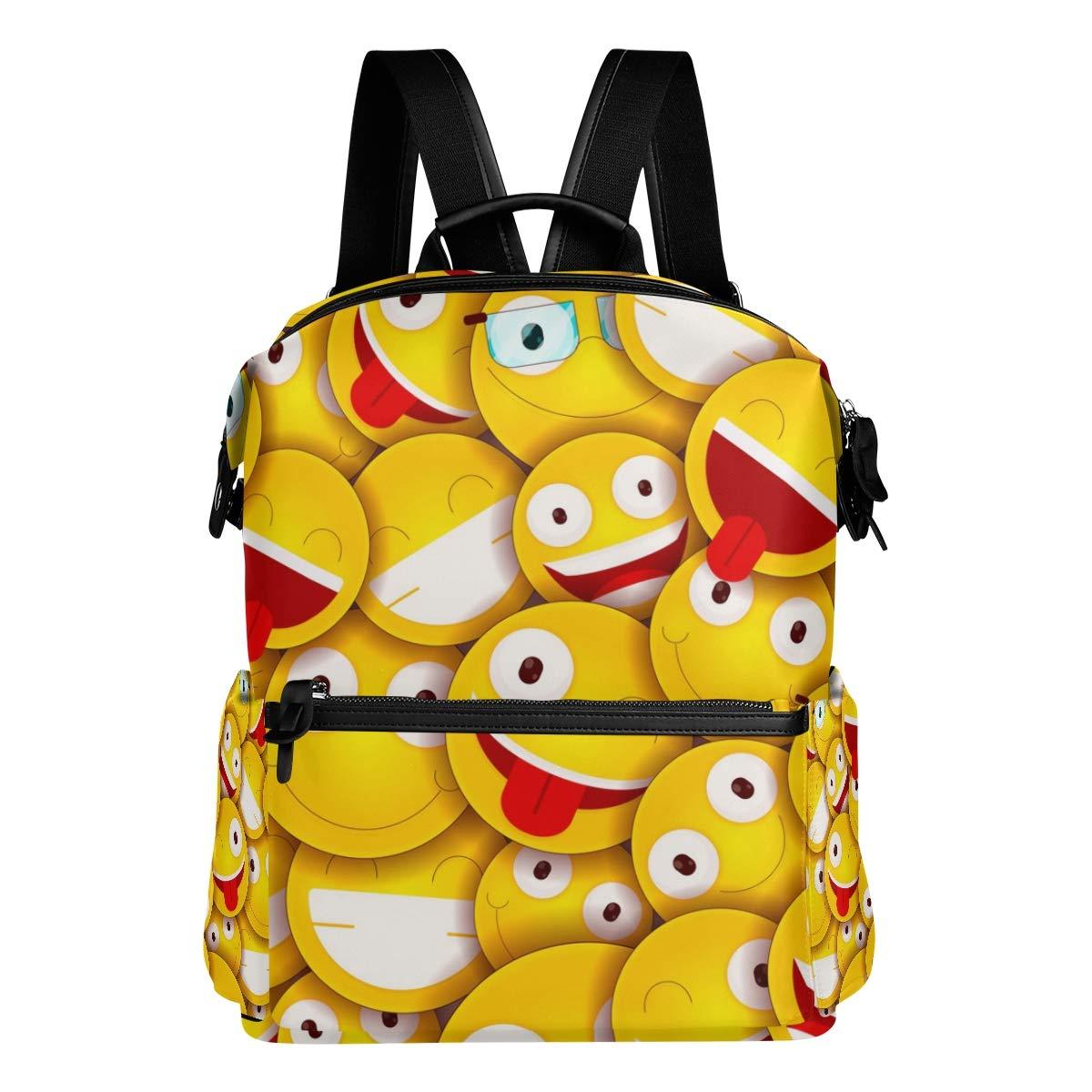FAJRO colored Emoticons zaino da viaggio borsa scuola zaino