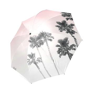 Personalizado tranquilidad Dusty rosa cielo plegable paraguas paraguas de viaje