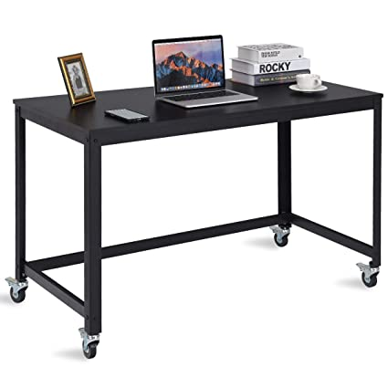 TANGKULA Computer Desk Wood Portable Compact Simple Style Home Office Study  Table Writing Desk Workstatation With