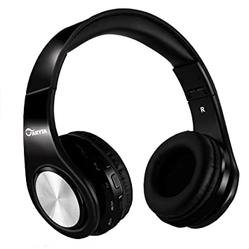 Akyta Bluetooth headphones AC-B23 black microphone  Amazon.co.uk   Electronics 34948b469f