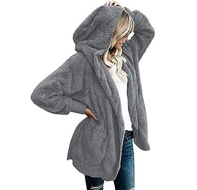 8516fe0cbf6108 Manadlian Damen Winterjacke mit Kapuze Frau Winter Jacke Warm Mantel Parka  Outwear
