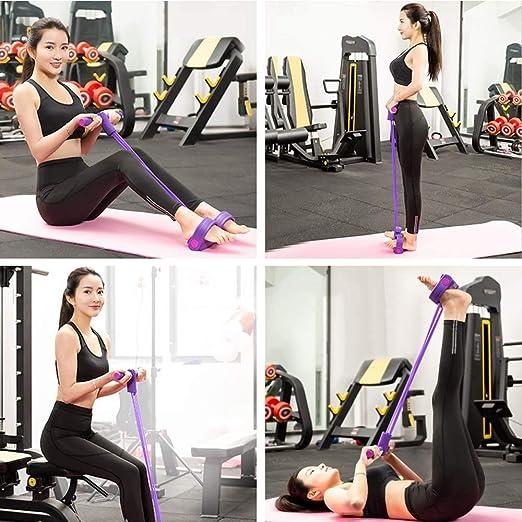 50cm Ideal Swan P/édale de Traction pour Pieds Assis et Musculation Fitness Bande de R/ésistance Corde Tension Multifonctionnelle Sit-Up Bodybuilding Expander de Jambes Bleu Fitness Yoga