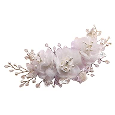 Amazon chuangli handmade bridal silk flower hair clips chuangli handmade bridal silk flower hair clips simulated pearl accessories mightylinksfo