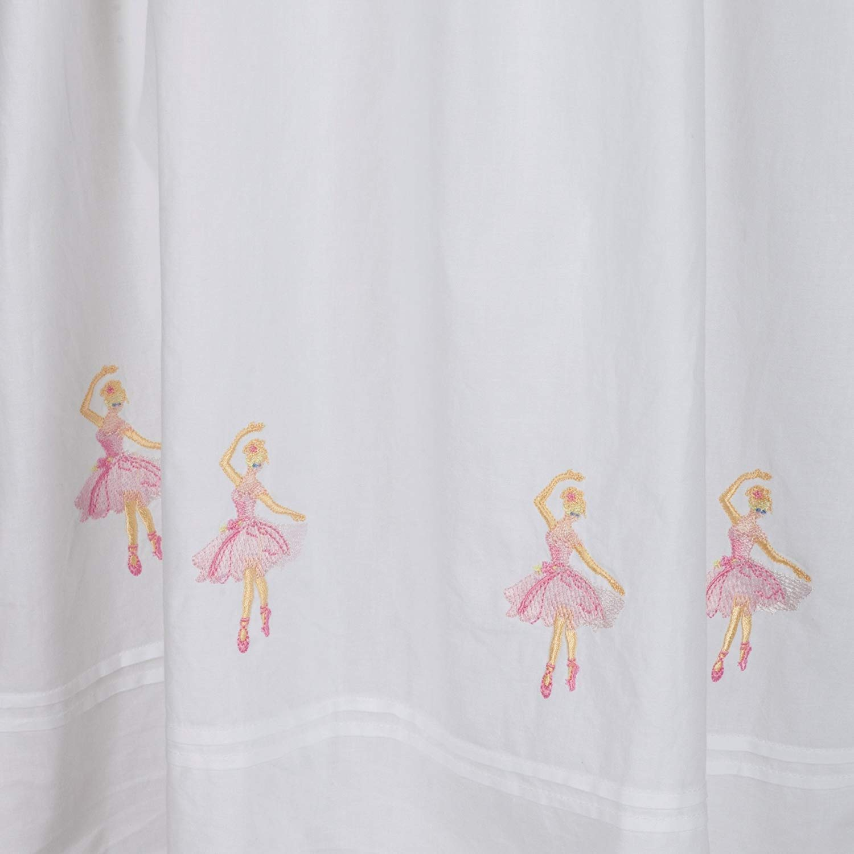 Age 6-7 Bianco Bianco The 1 for U 100/% Cotton Ragazze Camicia da Notte Ballerine Camicia da Notte 4-12 Anni Sophie