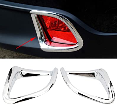 Chrome Rear Fog Light Lamp Cover Trim Fit For 2014 2015 2016 Toyota Highlander