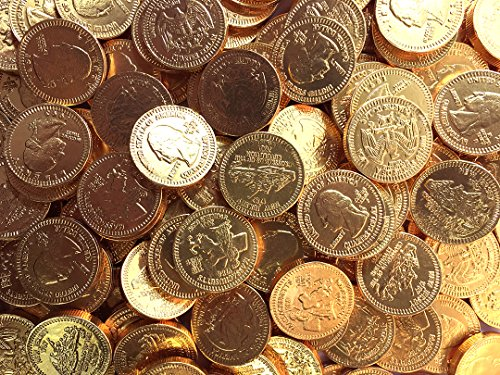 (Gold Bulk Dutch Milk Chocolate Coins, 5 Pounds, 700+ Coins, 1.125