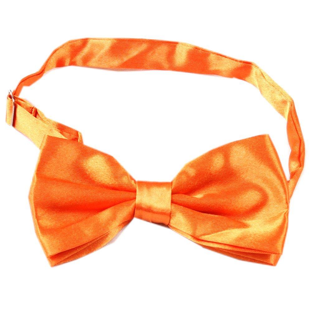 Enwis Tuxedo Mens Bowtie Adjustable Wedd ing Party Solid Orange