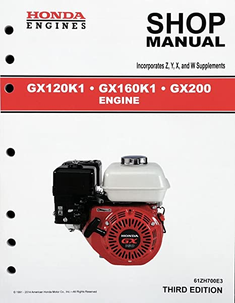 amazon com honda gx120 gx160 gx200 engine service repair shop rh amazon com Mygmlink Owner's Manual Clymer Manuals