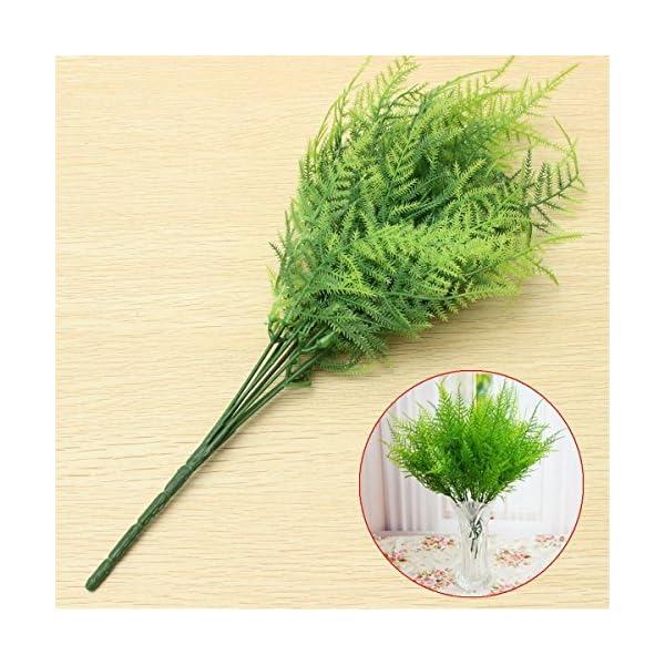 Bazaar-Plastic-Green-7-Stems-Artificial-Asparagus-Fern-Bush-Plants-Home-Cafe-Office-Decoration