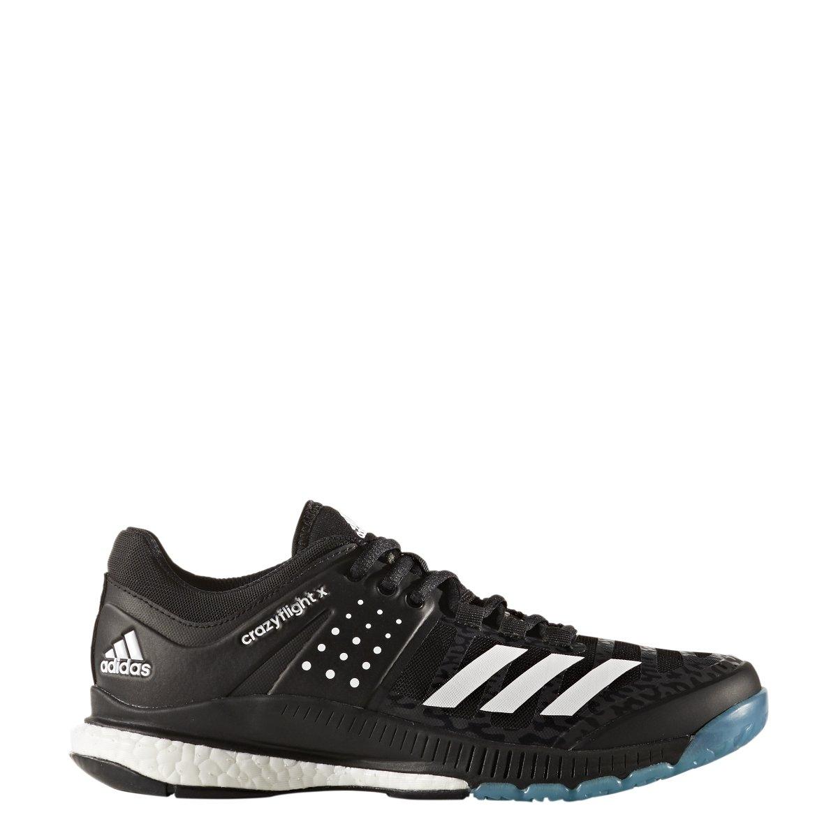 adidas Women's Crazyflight X Volleyball Shoe Black/White/Light Solid Grey,12 M US