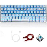 FELiCON AK33 trådbundet mekaniskt speltangentbord, blå LED-bakgrundsbelyst 82 tangenter E-sport spelare knappsats för…