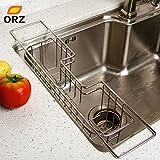 gogil Kitchen Stainless Steel Tray Dish Drainer Drying Rack Sink Basket Holder Knife Sponge Holder Dish Rack Kitchen Organizer
