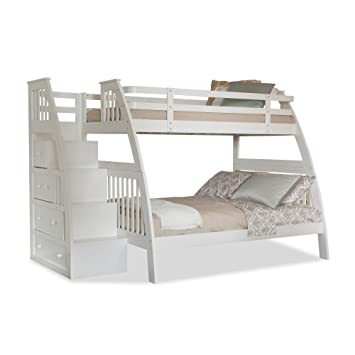 Canwood Ridgeline Bunk Bed With Built In Stairs Drawers Twin Over