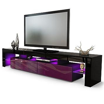 Et Unités Tv 200 Helios Pour Noir Salonmoderne Meuble Couleur mNw8n0v