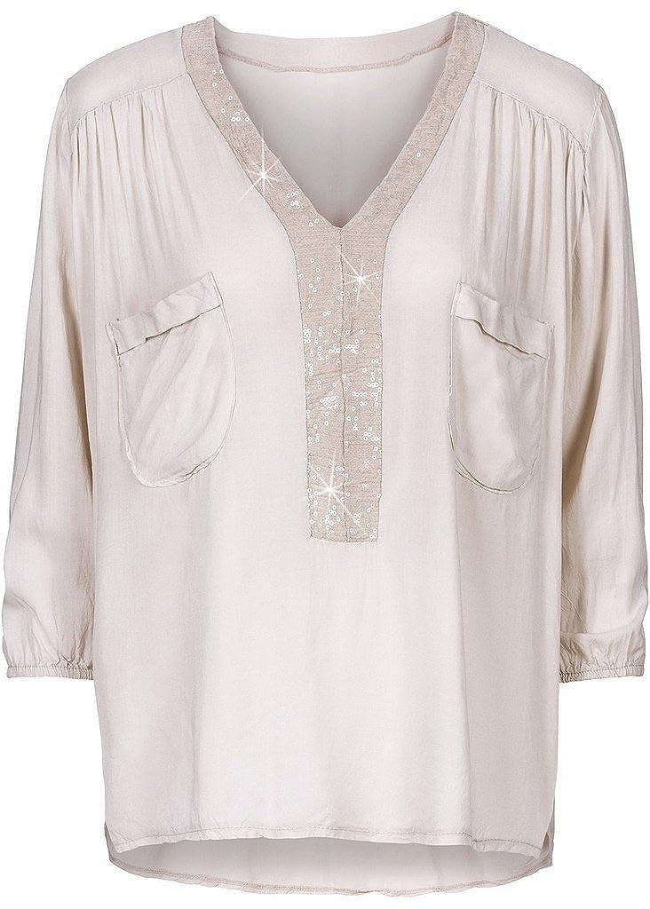 781df57ac0eac Bigood Casual Femme Pull Col V Manche Longue T-shirt avec Paillettes Large   Amazon.fr  Vêtements et accessoires