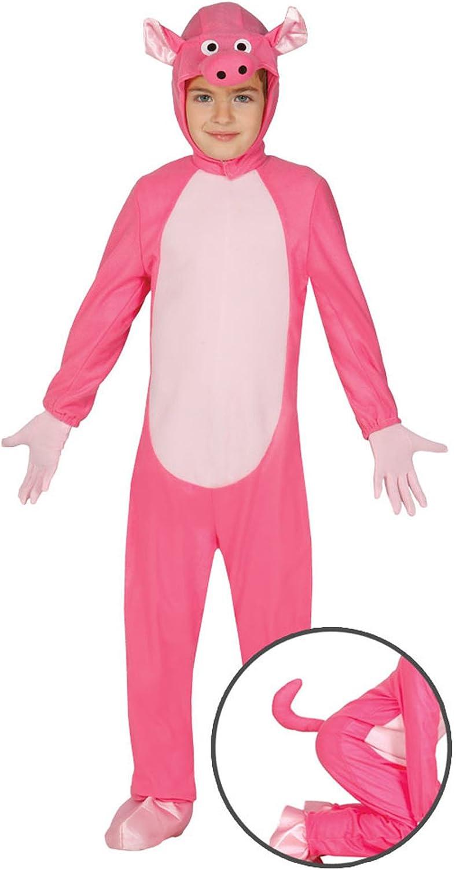 Guirca - Disfraz de cerdito, para niños de 3-4 años, color rosa ...