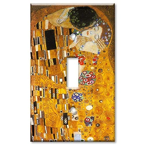 well-wreapped Art Plates - Klimt: The Kiss Switch Plate - Single Toggle