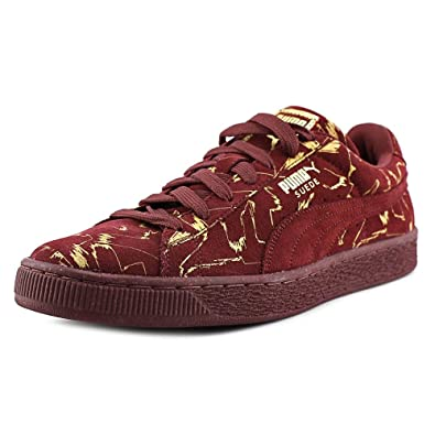 Puma Mens Suede Brush Emboss Sneakers (10 D (M) US, Oxblood Red