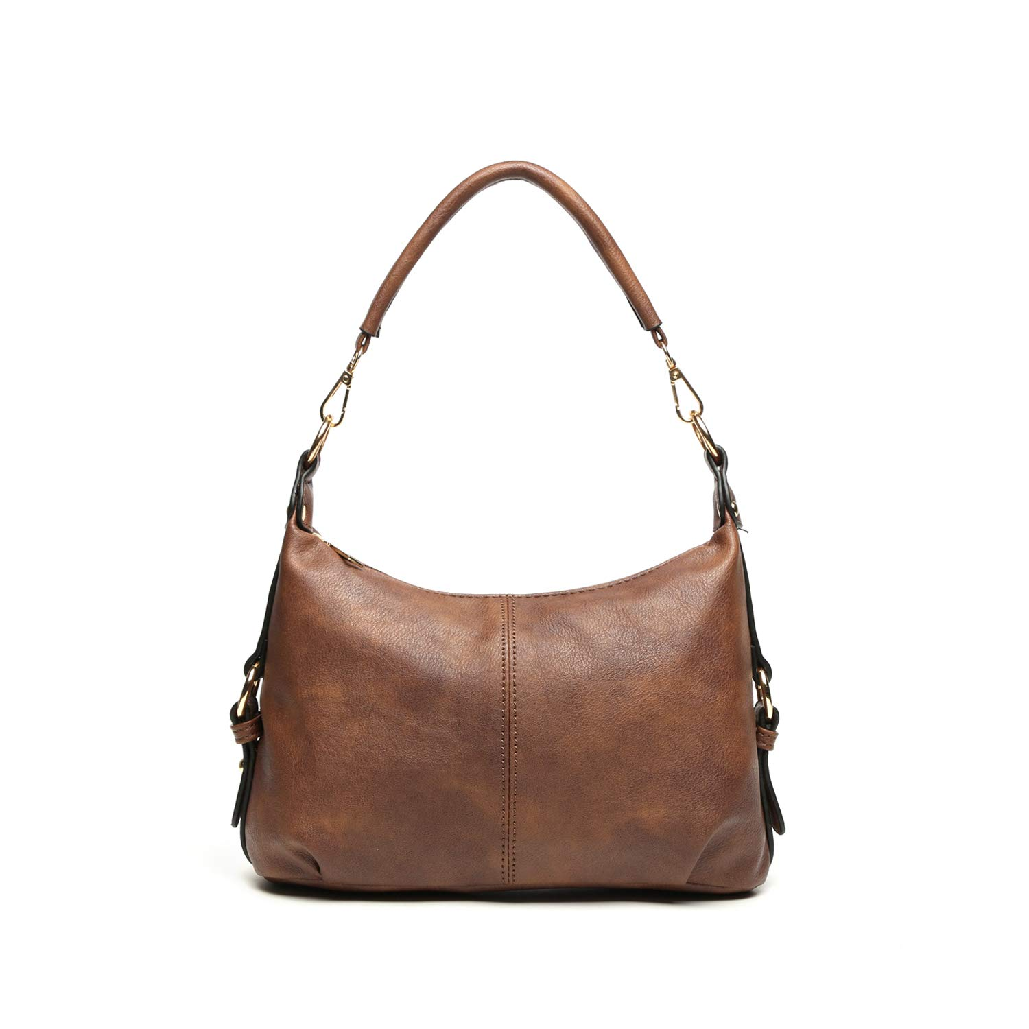 Shoulder Purse for Women PU Leather Small Hobo Handbag Top Handle Bag Crossbody Brown + Katloo Nail Clipper